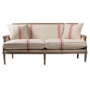 Lafontaine Sofa, Red Stripe | Blink Home