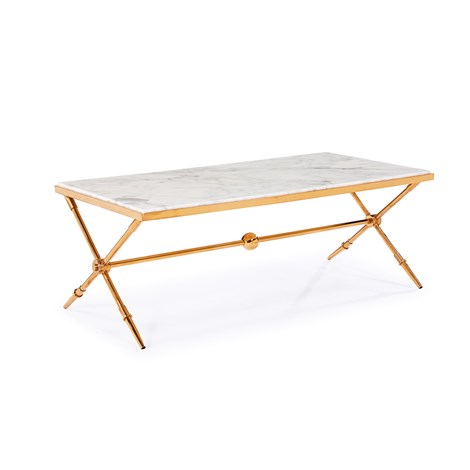 Hudson Marble Top Cocktail Table Blink Home