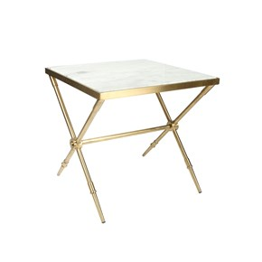 Hudson End Table, Marble Top