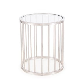 Athens Side Table, Antique Silver
